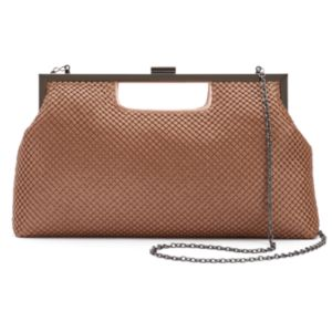 Lenore by La Regale Mesh Clutch