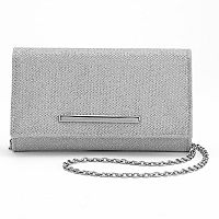 Lenore by La Regale Jacquard Roll Clutch