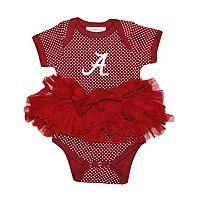 Baby Two Feet Ahead Alabama Crimson Tide Pin Dot Tutu Bodysuit