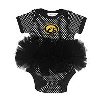 Baby Two Feet Ahead Iowa Hawkeyes Pin Dot Tutu Bodysuit