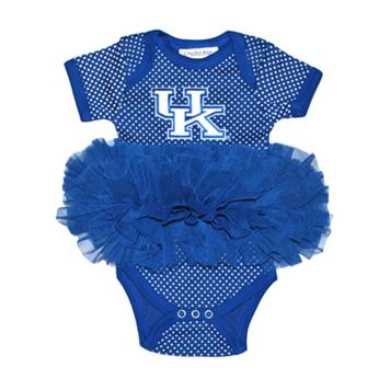 Baby Two Feet Ahead Kentucky Wildcats Pin Dot Tutu Bodysuit