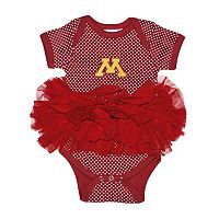 Baby Two Feet Ahead Minnesota Golden Gophers Pin Dot Tutu Bodysuit