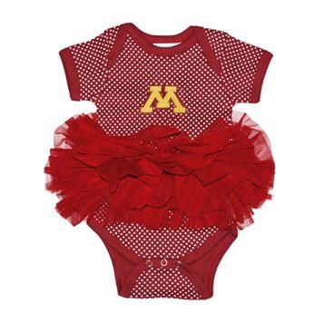 Baby Two Feet Ahead Minnesota Golden Gophers Pin Dot Tutu Bodysuit