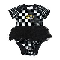 Baby Two Feet Ahead Missouri Tigers Pin Dot Tutu Bodysuit