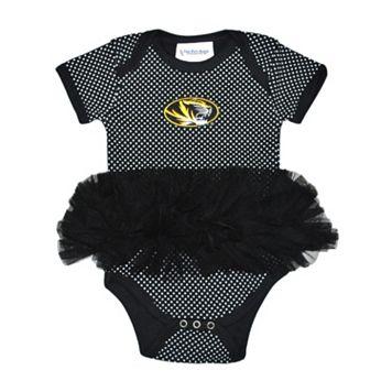 Baby Two Feet Ahead Missouri Tigers Pin Dot Tutu Bodysuit