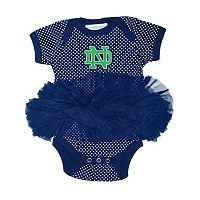 Baby Two Feet Ahead Notre Dame Fighting Irish Pin Dot Tutu Bodysuit