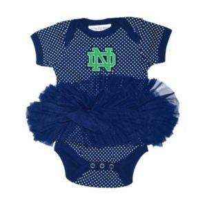 Baby Two Feet Ahead Notre Dame Fighting Irish Pin Dot Tutu Bodysuit