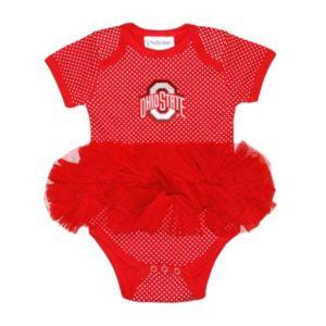 Baby Two Feet Ahead Ohio State Buckeyes Pin Dot Tutu Bodysuit