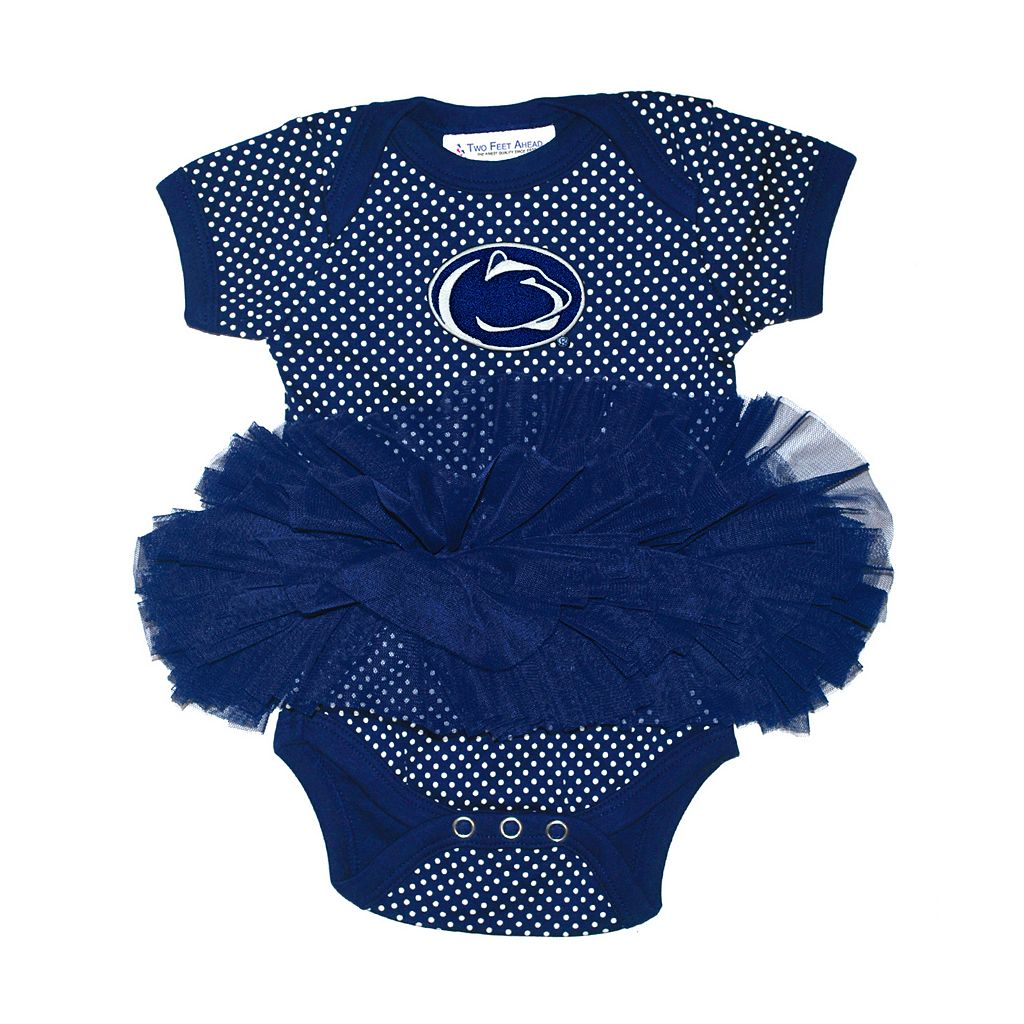 Baby Two Feet Ahead Penn State Nittany Lions Pin Dot Tutu Bodysuit