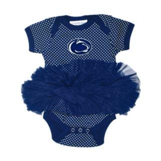 Baby Two Feet Ahead Penn State Nittany Lions Pin Dot Tutu Bodysuit