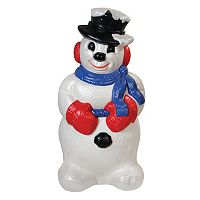General Foam Plastics Derby Snowman Indoor / Outdoor Decor