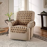Innovative Textile Solutions Paw Prints Microfiber Recliner Slipcover