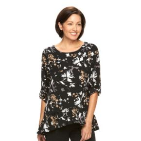 Women's Croft & Barrow® Tiered Peplum Top