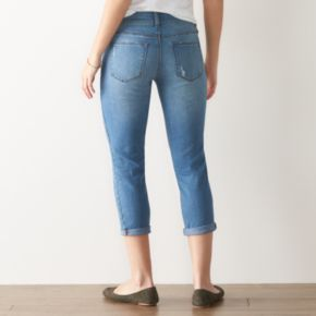 Women's SONOMA Goods for Life? Faded Cuffed Capri Jeans