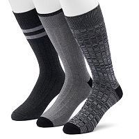 Men's SONOMA Goods for Life™ 3-pack Solid & Patterned Crew Socks