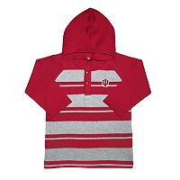 Toddler Two Feet Ahead Indiana Hoosiers Long-Sleeve Hooded Shirt
