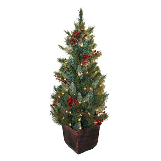 General Foam Plastics Potted Pre-Lit Artificial Christmas Tree