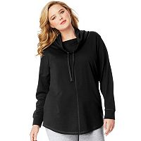 Plus Size Just My Size French Terry Cowl Neck Sweatshirt