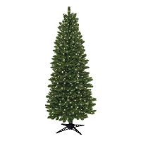 General Foam Plastics 7-ft. Pre-Lit Slender Spruce Artificial Christmas Tree