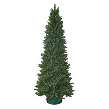 General Foam Plastics 9-ft. Multicolor Pre-Lit Slender Spruce Artificial Christmas Tree