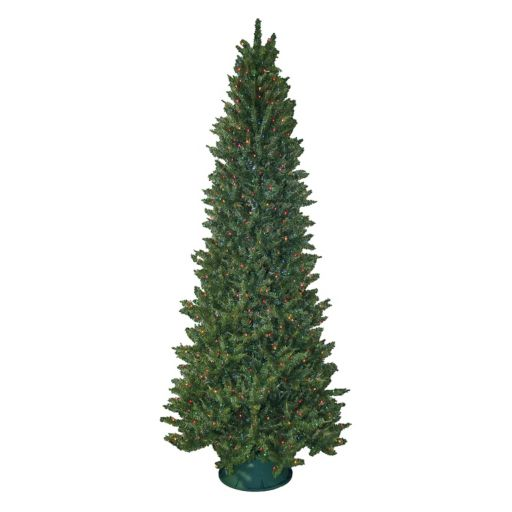 General Foam Plastics 9-ft. Multicolor Pre-Lit Slender Spruce Artificial Christmas Tree