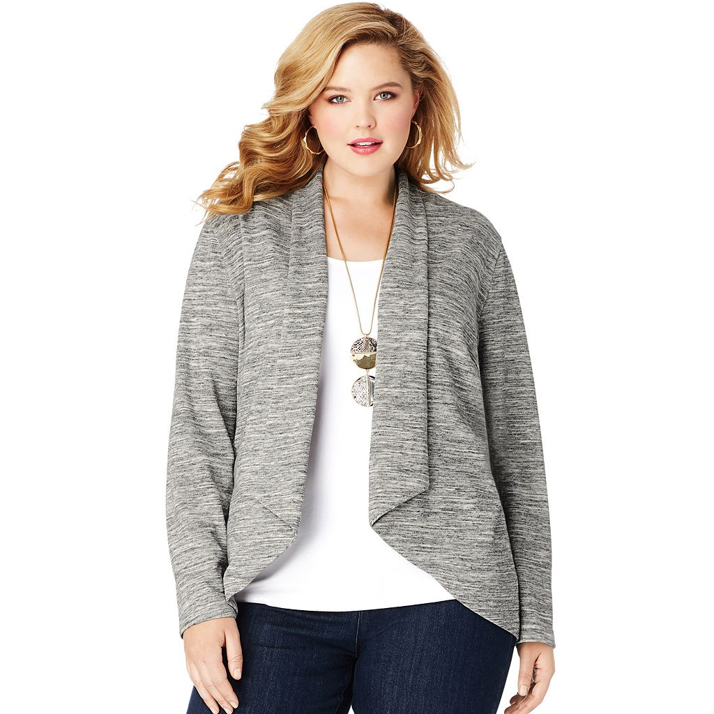 Plus Size Just My Size Flyaway Cardigan