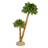 General Foam Plastics 6-ft. Pre-Lit Artificial Double Palm Tree