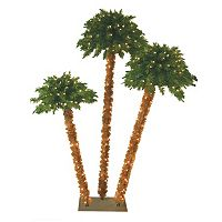 General Foam Plastics 6-ft. Pre-Lit Artificial Triple Palm Tree