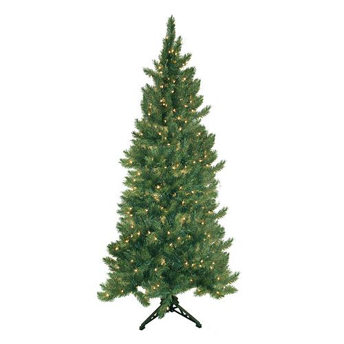 pre lit artificial corner christmas tree - 65ft Christmas Tree