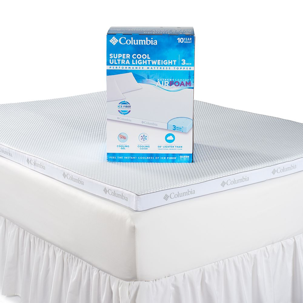Columbia Super Cool 3 Inch Performance Mattress Topper