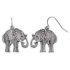 Apt. 9® Elephant Nickel Free Drop Earrings