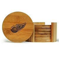 Detroit Red Wings 6-Piece Bamboo Coaster Set