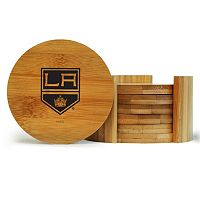 Los Angeles Kings 6-Piece Bamboo Coaster Set