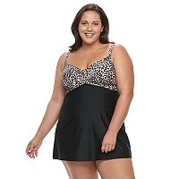 Plus Size Croft & Barrow® Crossover Swimdress