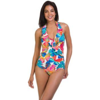 Women's Upstream Tummy Slimmer Butterfly One-Piece Swimsuit