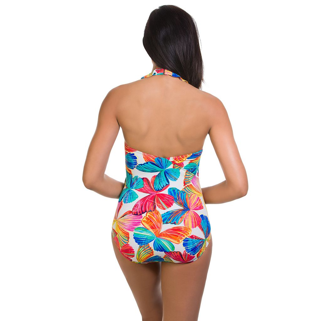 Women's Upstream Tummy Slimmer Butterfly One-Piece Swimsuit