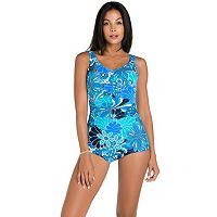 Women's Upstream Tummy Slimming Shell One-Piece Swimsuit