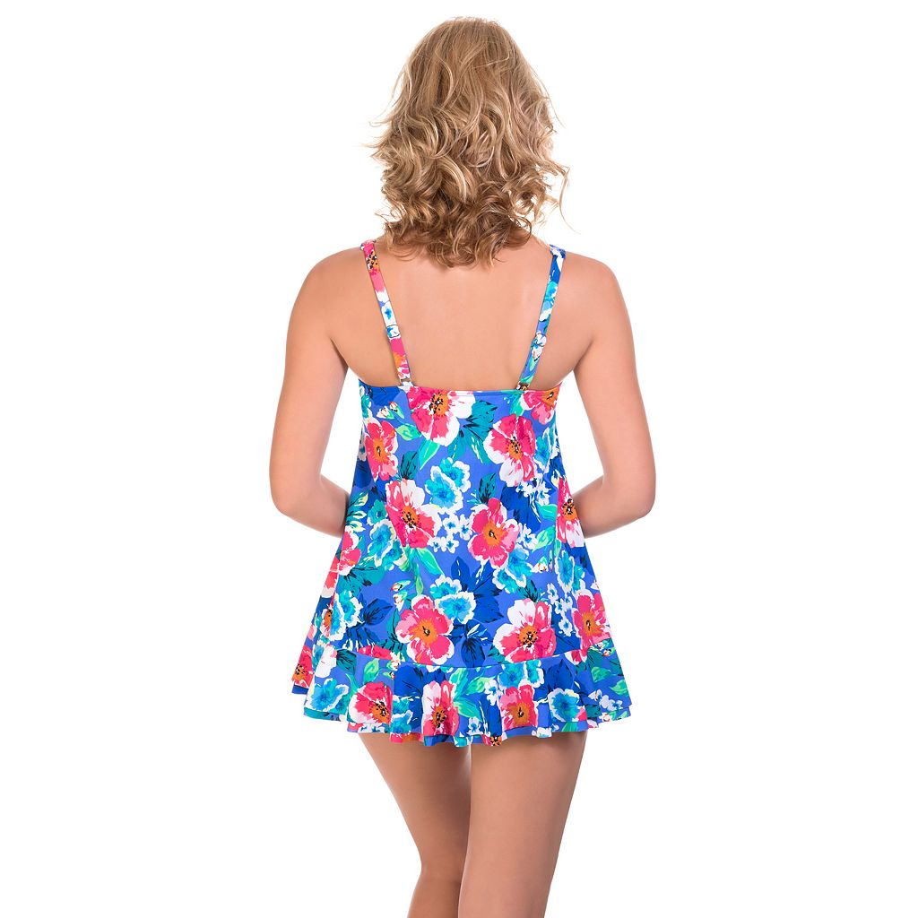 Women's Upstream Hip Minimizer Floral Swimdress