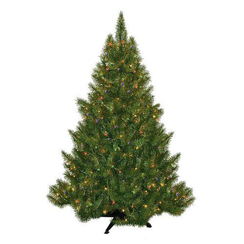 Pre Lit Christmas Tree Fuses: General Foam Plastics 4.5-ft. Multicolor Pre-Lit Montana