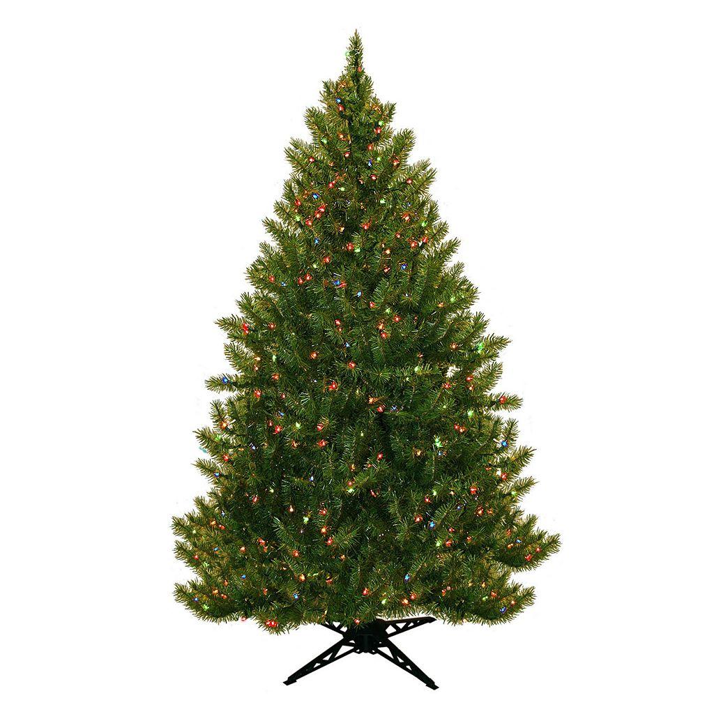General Foam Plastics 6.5-ft. Multicolor Pre-Lit Montana Pine Artificial Christmas Tree