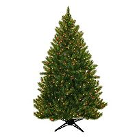 General Foam Plastics 6.5-ft. Multicolor Pre-Lit Montana Pine Artificial Christmas Tree