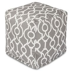 Majestic Home Goods Athens Indoor / Outdoor Cube Pouf Ottoman
