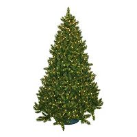 General Foam Plastics 7.5-ft. Pre-Lit Montana Pine Artificial Christmas Tree
