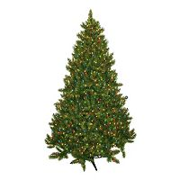 General Foam Plastics 7.5-ft. Multicolor Pre-Lit Montana Pine Artificial Christmas Tree