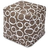 Majestic Home Goods Fusion Cube Pouf Ottoman