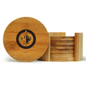 Winnipeg Jets 6-Piece Bamboo Coaster Set