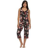 Women's Apt. 9® Pajamas: Spring Sweethearts Tank Top & Capris Pajama Set