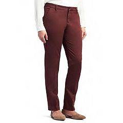 Petite Lee Linea Straight-Leg Ankle Pants