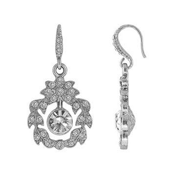 Downton Abbey Openwork Leaf Drop Earrings