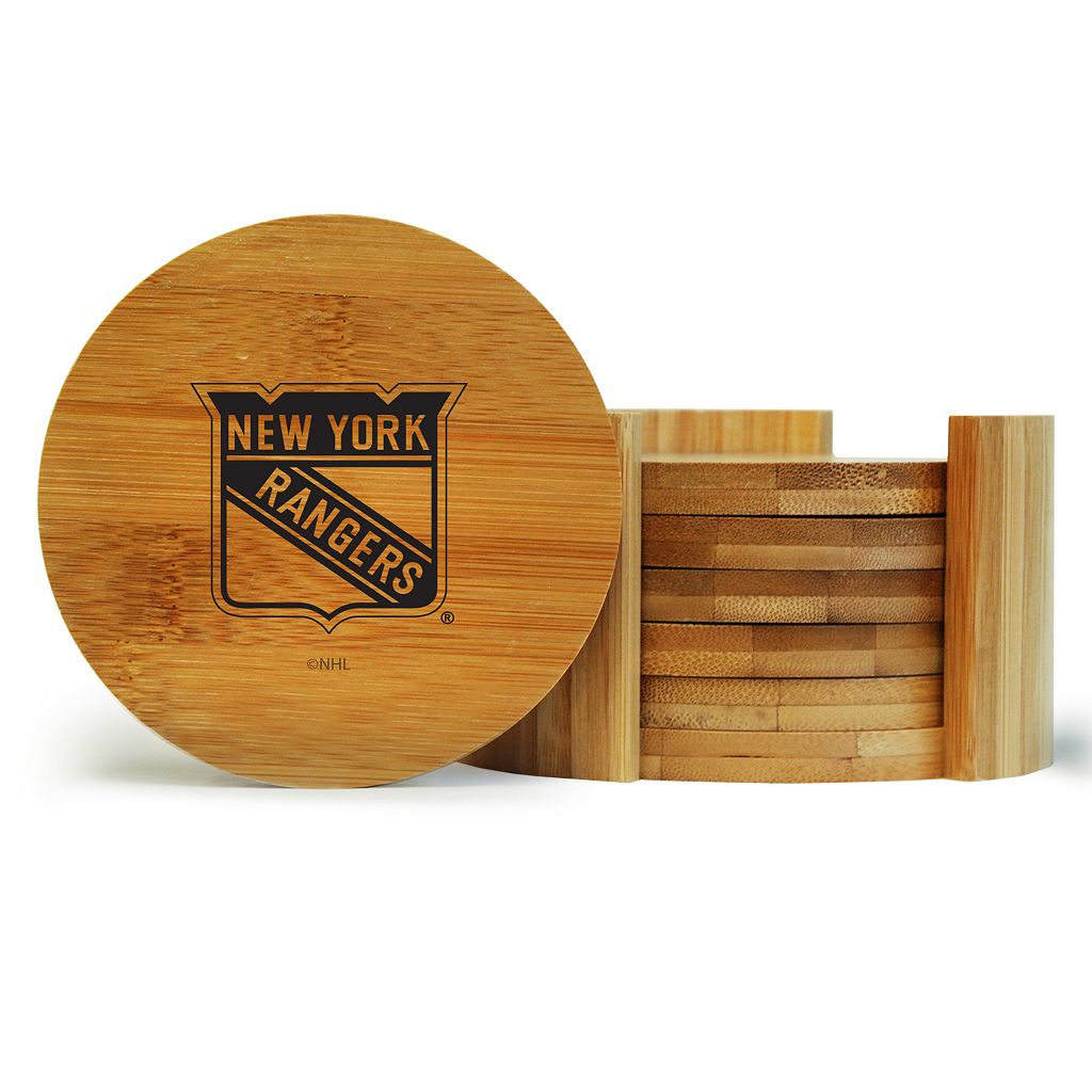 New York Rangers 6-Piece Bamboo Coaster Set